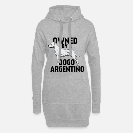 Pet Hoodies & Sweatshirts - International Dog Day - Owned by a dogo argentino - Women's Hoodie Dress heather grey