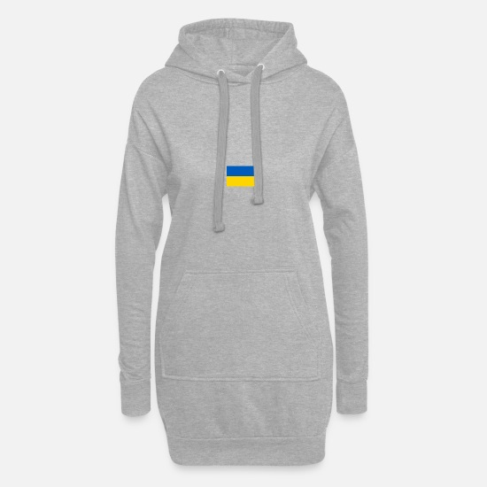 National Team Hoodies & Sweatshirts - Ukraine flag - Women's Hoodie Dress heather grey
