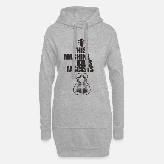 Song Hoodies & Sweatshirts - Guitar freedom - Women's Hoodie Dress heather grey