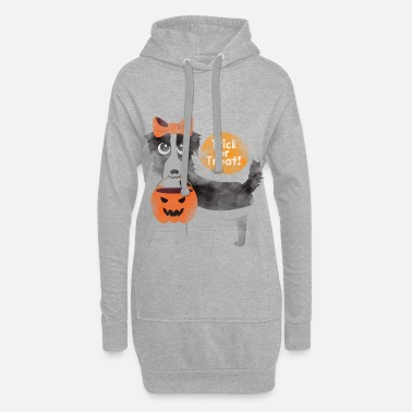 Trick or Treat Halloween Dog Shirt - Cadeau - Robe sweat Femme