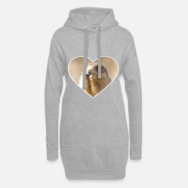 Rongeur rongeurs rongeurs coeur mignon - Robe sweat Femme