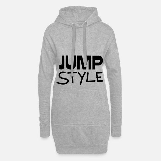 Jumpstyle Sweat-shirts - Cadeau Jumpstyle - Robe sweat Femme gris chiné