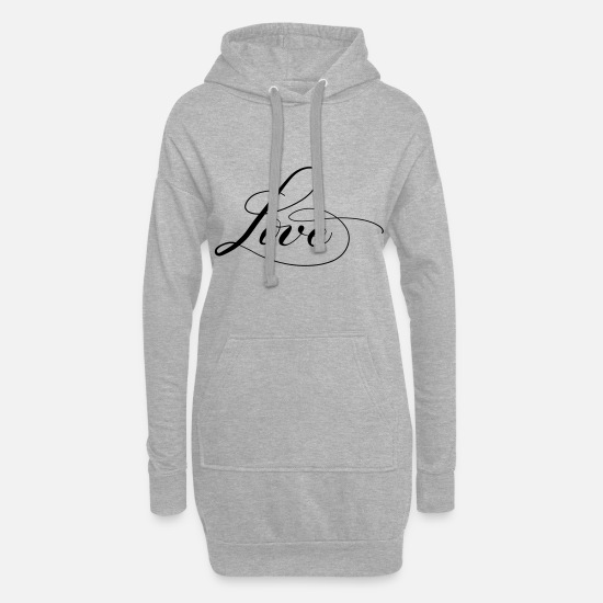 Mariage Sweat-shirts - Amour - Robe sweat Femme gris chiné