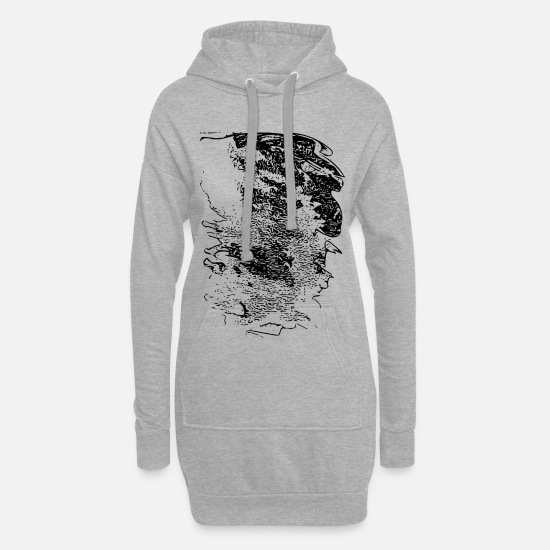 New Hoodies & Sweatshirts - abstract - Women's Hoodie Dress heather grey