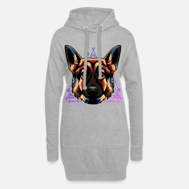 German shepherd dog - Women's Hoodie Dress