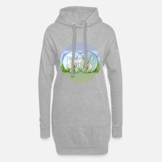 Nature Conservation Hoodies & Sweatshirts - Clean energy, H2, hydrogen - Women's Hoodie Dress heather grey