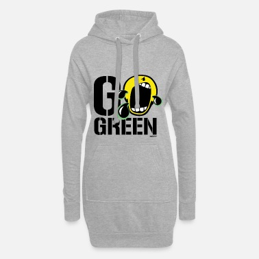 SmileyWorld Go Green - Women's Hoodie Dress
