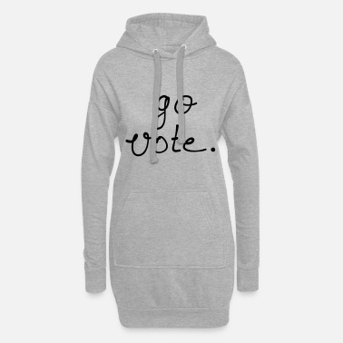 Vote go vote - Frauen Hoodiekleid