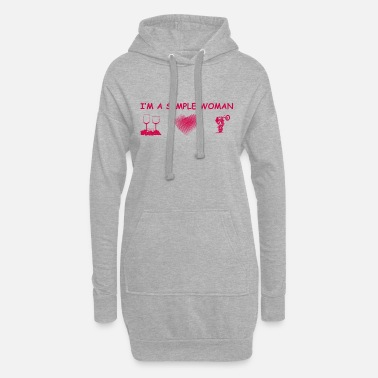 motocross cycle wine heart love simple woman ehef - Women's Hoodie Dress