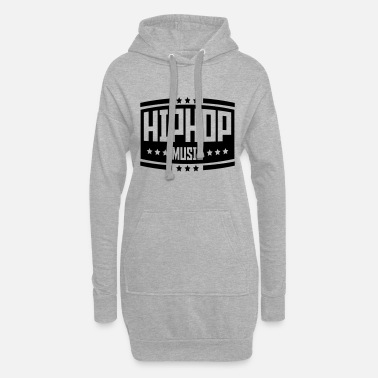 Old School hip_hop_music_ab1 - Frauen Hoodiekleid