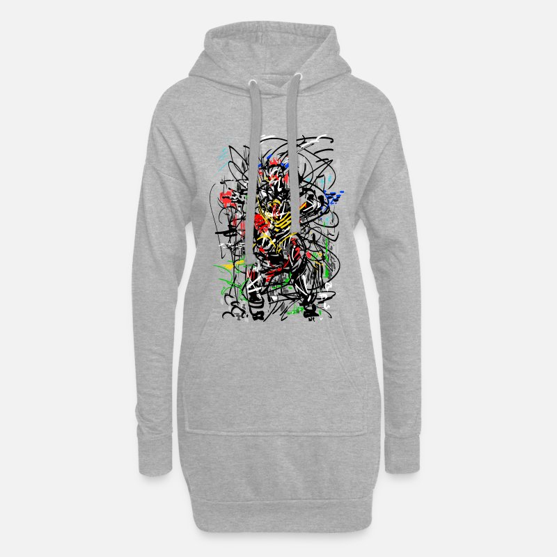 Abstract Hoodies & Sweatshirts - abstract - Women's Hoodie Dress heather grey