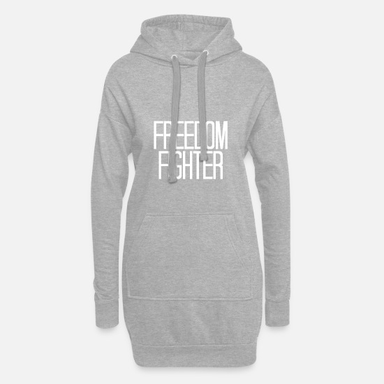 Gift Idea Hoodies & Sweatshirts - Freedom Fighter - Women's Hoodie Dress heather grey