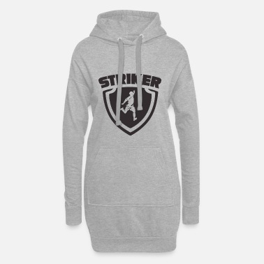 Strike Blason de l'attaquant footballeur Striker - Robe sweat Femme