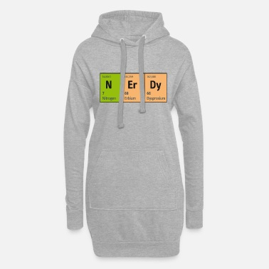 Blitzgescheit Periodic Table of Elements NErDy (Nerd Nerdy) - Women's Hoodie Dress