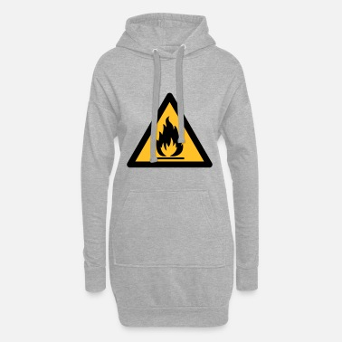 Symbole de danger - Inflammable (2 couleurs) - Robe sweat Femme