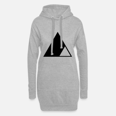 Triangle Triangle in the triangle - Women's Hoodie Dress