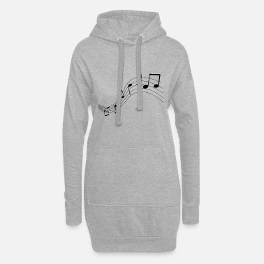 Note Music notes, music, notes - Women's Hoodie Dress