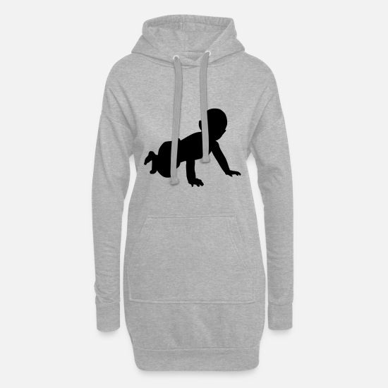 Pregnancy Hoodies & Sweatshirts - Baby - Women's Hoodie Dress heather grey