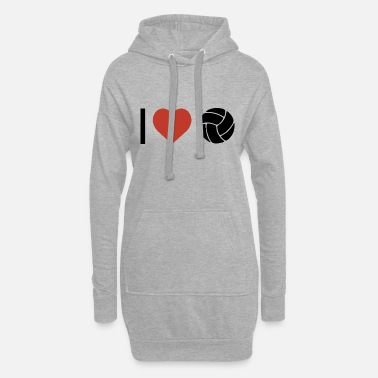 Sport Je coeur le volley-ball sport - Robe sweat Femme