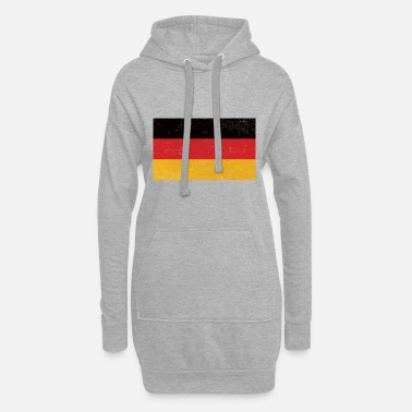 Schland Old worn german flag gift idea - Women's Hoodie Dress