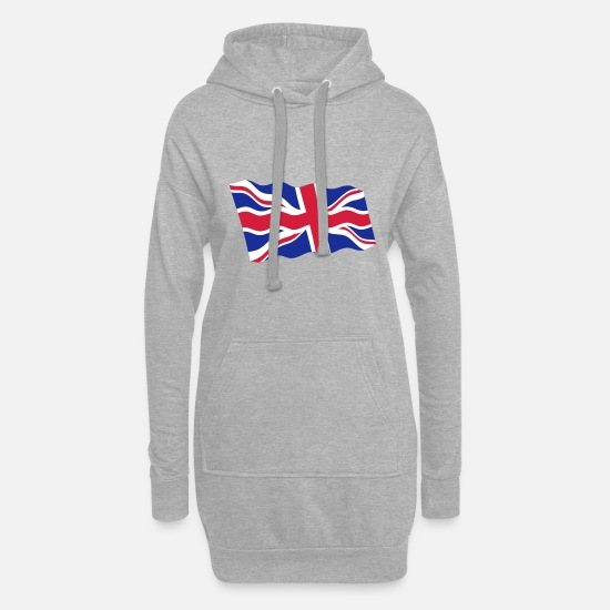 Country Hoodies & Sweatshirts - UK / United Kingdom - Women's Hoodie Dress heather grey