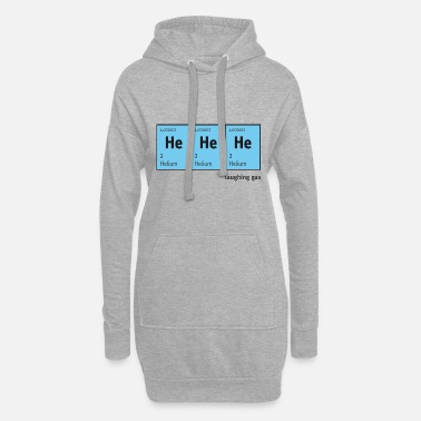 Blitzgescheit Periodic Table of Elements HeHeHe (helium - Women's Hoodie Dress