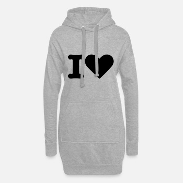 Tlc I Love - Frauen Hoodiekleid