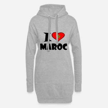 Flag Of Germany Maroc - Morocco - Morocco - I love Maroc - Women's Hoodie Dress