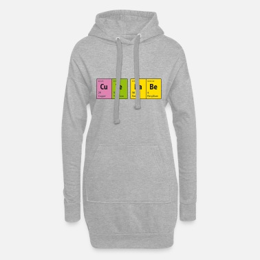 Blitzgescheit Periodic Table of Elements CuTe BaBe (cute baby) - Women's Hoodie Dress