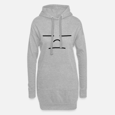 No Worries Sad Face - Women's Hoodie Dress
