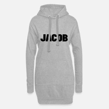 Font ❤✦Jacob-Best Top Male Name Jacob Vector Design✦❤ - Women's Hoodie Dress