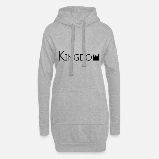 English Hoodies & Sweatshirts - kingdom - Women's Hoodie Dress heather grey