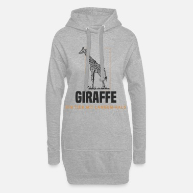 Girafe - Un animal avec un long cou - Robe sweat Femme