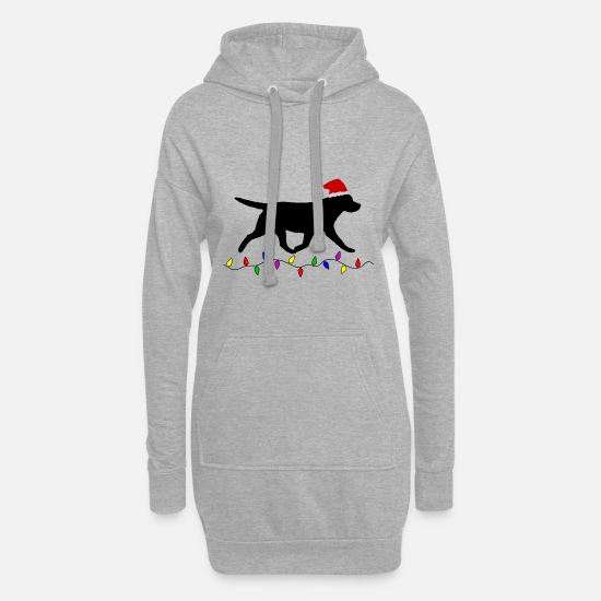 Labrador Hoodies & Sweatshirts - Labrador Retriever (Black) Christmas - Women's Hoodie Dress heather grey