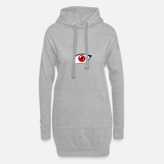 Red Hoodies & Sweatshirts - Red eye - Women's Hoodie Dress heather grey