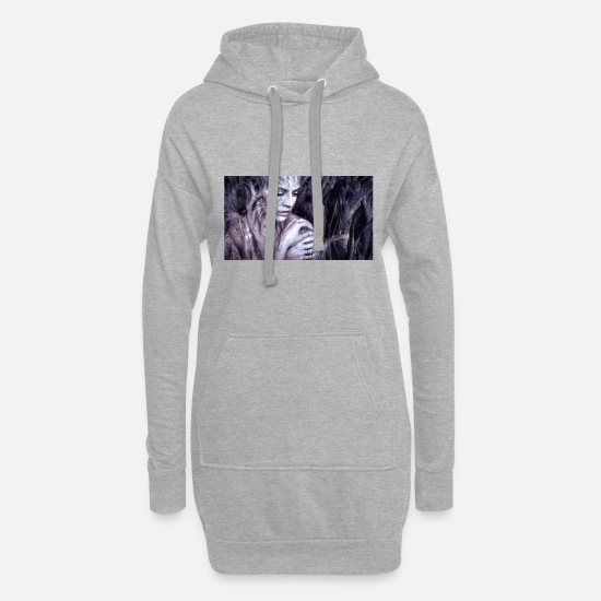 Awesome Hoodies & Sweatshirts - Illustration composing 2391033 - Women's Hoodie Dress heather grey