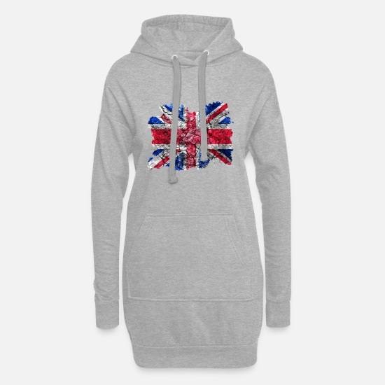 United Kingdom Hoodies & Sweatshirts - United Kingdom vintage flag - Women's Hoodie Dress heather grey