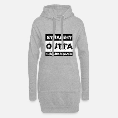 Grisons Straight Outta Grisons gift city - Women's Hoodie Dress