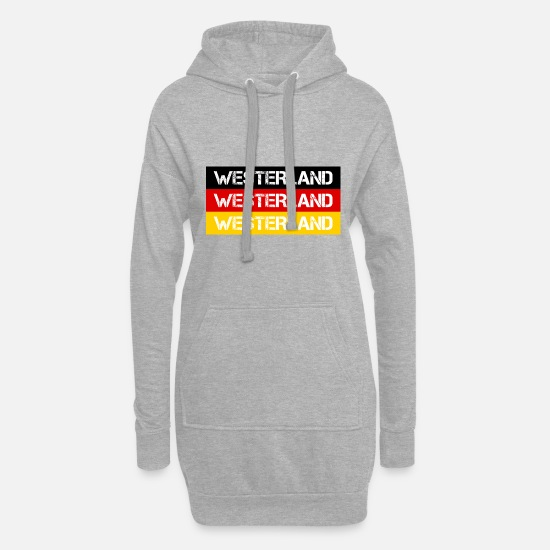Federal Republic Of Germany Hoodies & Sweatshirts - CITY WESTERLAND, GERMANY - Women's Hoodie Dress heather grey