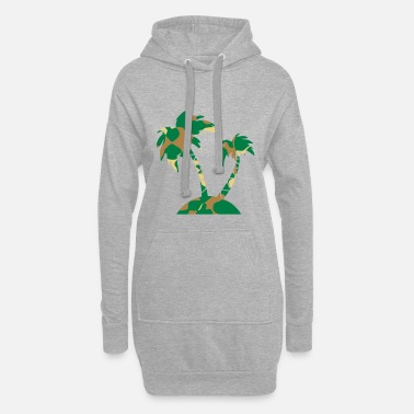 Palm Trees PALM TREE - CAMO / CAMOUFLAGE - Women's Hoodie Dress