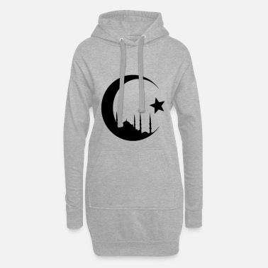 Turkey Crescent with mosque - Women's Hoodie Dress