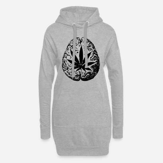 Trend Hoodies & Sweatshirts - cannabis - Women's Hoodie Dress heather grey