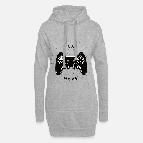 Gaming Pullover & Hoodies - Gaming - Frauen Hoodiekleid Grau meliert