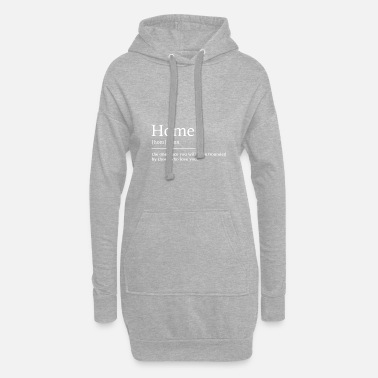 Thuis Thuis thuis - Vrouwen hoodie jurk