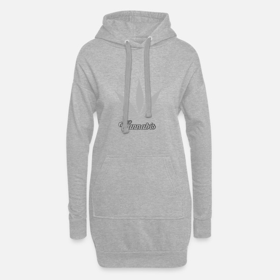 Cannabis Hoodies & Sweatshirts - Cannabis cannabis leaf - Women's Hoodie Dress heather grey