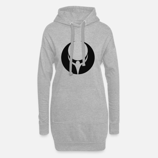 Gift Idea Hoodies & Sweatshirts - art - Women's Hoodie Dress heather grey