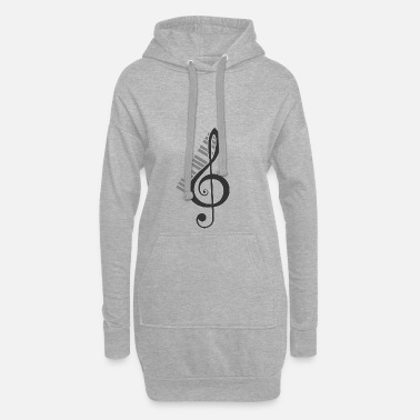 Octave Violin notes melody clef musician octave - Women's Hoodie Dress