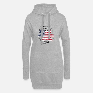 Flint THERAPY HOLIDAY AMERICA USA TRAVEL Flint - Women's Hoodie Dress