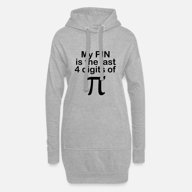 Pin Sweatshirts & hættetrøjer - My PIN is the last 4 digits of Pi - Hoodie kjole dame grå meleret