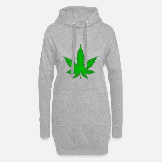 Hashish Hoodies & Sweatshirts - cannabis - Women's Hoodie Dress heather grey